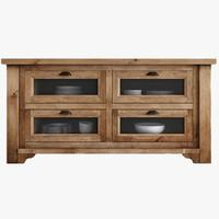 3d model salvaged wood kitchen island