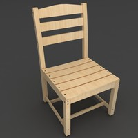 3d model ladder dining chair