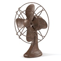 obj vintage electric fan