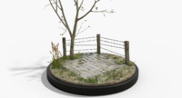outdoor diorama scene 3d model