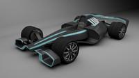 concept formula 1 car 3d c4d