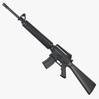 M16A2 Assault Rifle 3D models