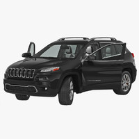 3d jeep cherokee 2015 rigged model