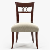 3d baker cleo dining chair model