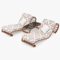 3ds max rattan lounger