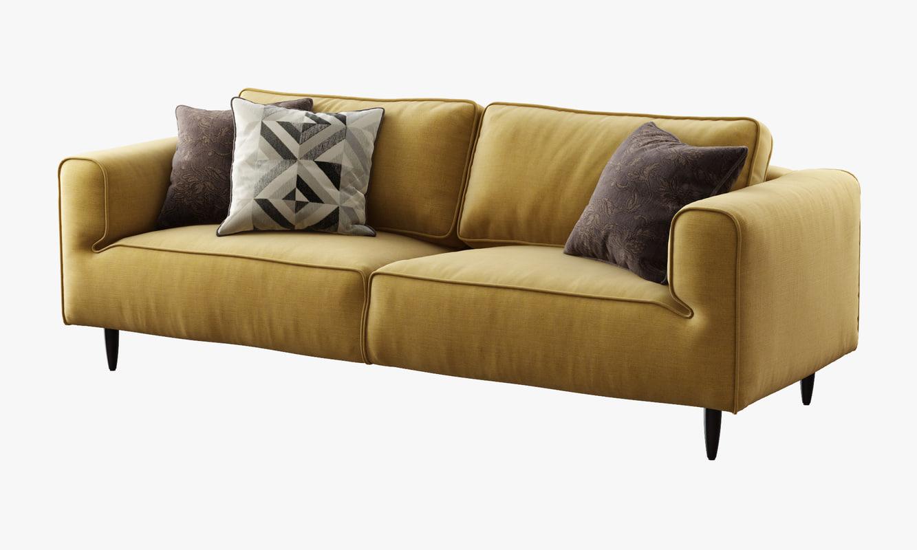 boconcept arco sofa 3d model. Black Bedroom Furniture Sets. Home Design Ideas