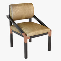 ch-144 dining chair 3d model