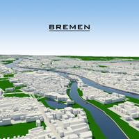 3ds max bremen cityscape