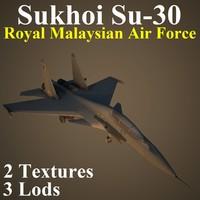 3d model sukhoi rmf