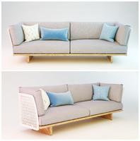 3d sofa mesh model