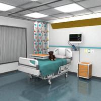 3d children s hospital room