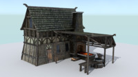3ds max forge medieval village blacksmith