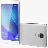 3d model realistic huawei honor 7