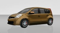 Nissan Note Lowpoly