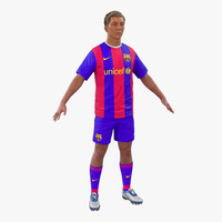 soccer player barcelona hair 3d max
