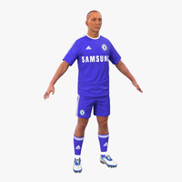 3d soccer player chelsea model