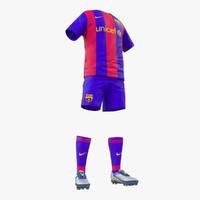 3d soccer clothes barcelona