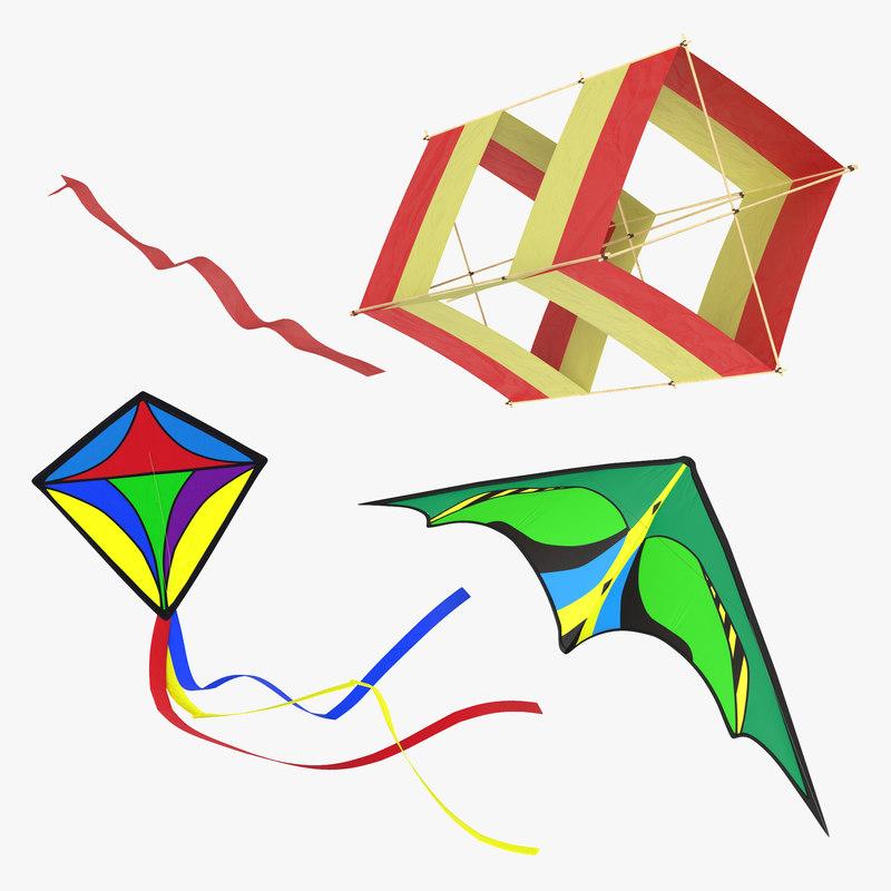 Kites Collection 3d models 00.jpg