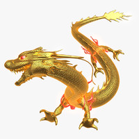 3ds max golden dragon