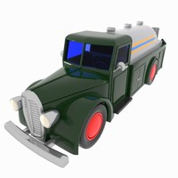 Cartoon Vintage Tanker Truck