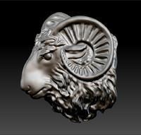 ram s head 3d model
