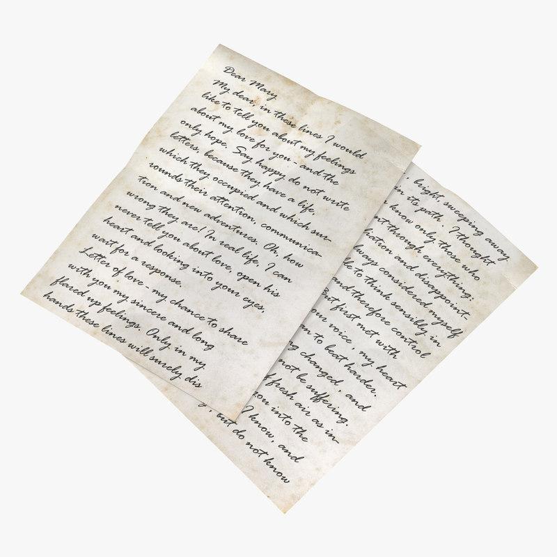 Old Letter 3d model 00.jpg