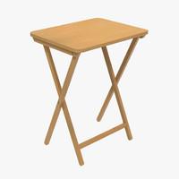 3d model of tv folding table design