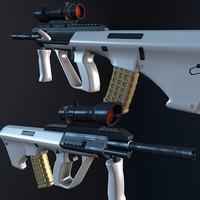 3d model aug steyr rifle acog