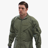 pilot flight suit army soldier 3d max
