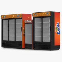 3d fanta refrigerators model
