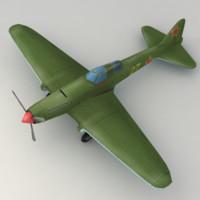 warplane 3d model