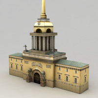 3d classical building admiralty