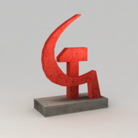red monument 3d max