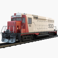 soo 703 diesel locomotive 3d 3ds