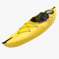 3d kayak yellow model