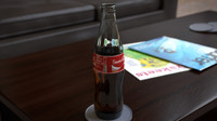 3d soda bottle model