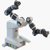 3d industrial robotic abb yumi model