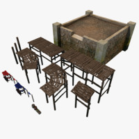 Old Harbor Parts Set [Lowpoly]