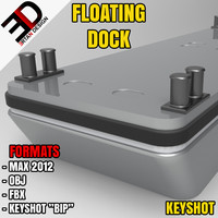 floating dock 3d model