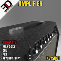 3d model of realistic amplifier