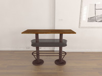 industrial console table 3ds