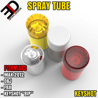 spray tube 3d max