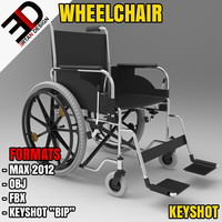 wheelchair chair 3d model