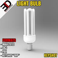 3d model light bulb
