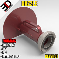 water shield nozzle 3d model