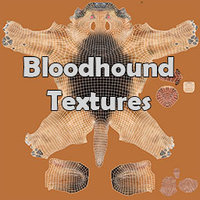 Bloodhound Black & Tan Fur Texture