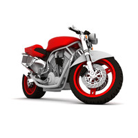3d motorcycle vehicle sports model
