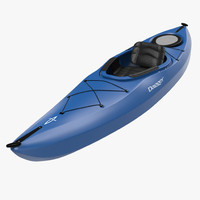 3d kayak modeled realistic