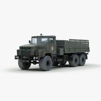 3d model soviet kraz 260 military truck