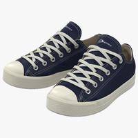 sneakers 2 blue 3d model